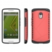 Moto X Play Hybrid Combo Aegis Armor Case Cover (Pink) protective carrying case by PDair