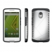 Moto X Play Hybrid Combo Aegis Armor Case Cover (Silver) protective carrying case by PDair