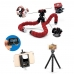 Portable Octopus Shaped Mini Tripod for Cell phone and Camera handmade leather case by PDair