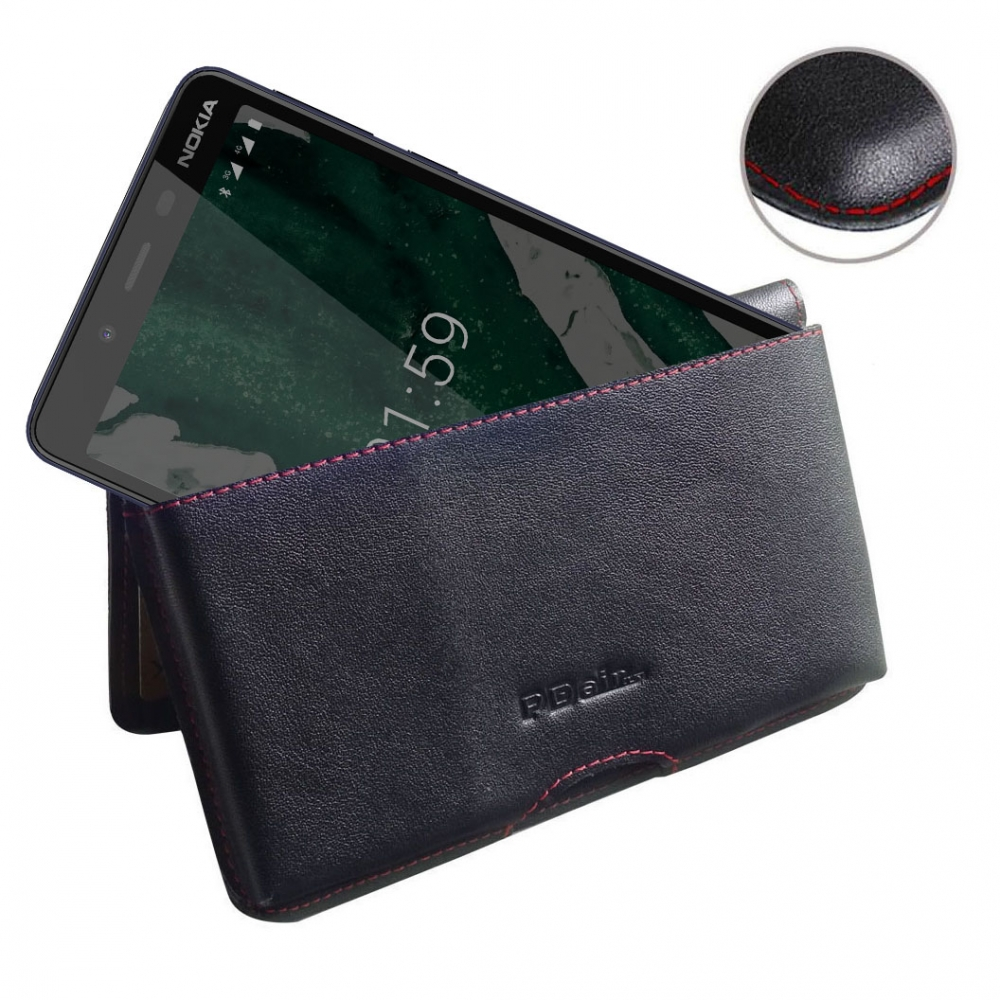 10% OFF + FREE SHIPPING, Buy the BEST PDair Handcrafted Premium Protective Carrying Nokia 1 Plus Leather Wallet Pouch Case (Red Stitch). Exquisitely designed engineered for Nokia 1 Plus.