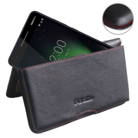 10% OFF + FREE SHIPPING, Buy the BEST PDair Handcrafted Premium Protective Carrying Nokia 2.1 Leather Wallet Pouch Case (Red Stitch). Exquisitely designed engineered for Nokia 2.1.