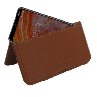 10% OFF + FREE SHIPPING, Buy the BEST PDair Handcrafted Premium Protective Carrying Nokia 3.1 Plus Leather Wallet Pouch Case (Brown). Exquisitely designed engineered for Nokia 3.1 Plus.
