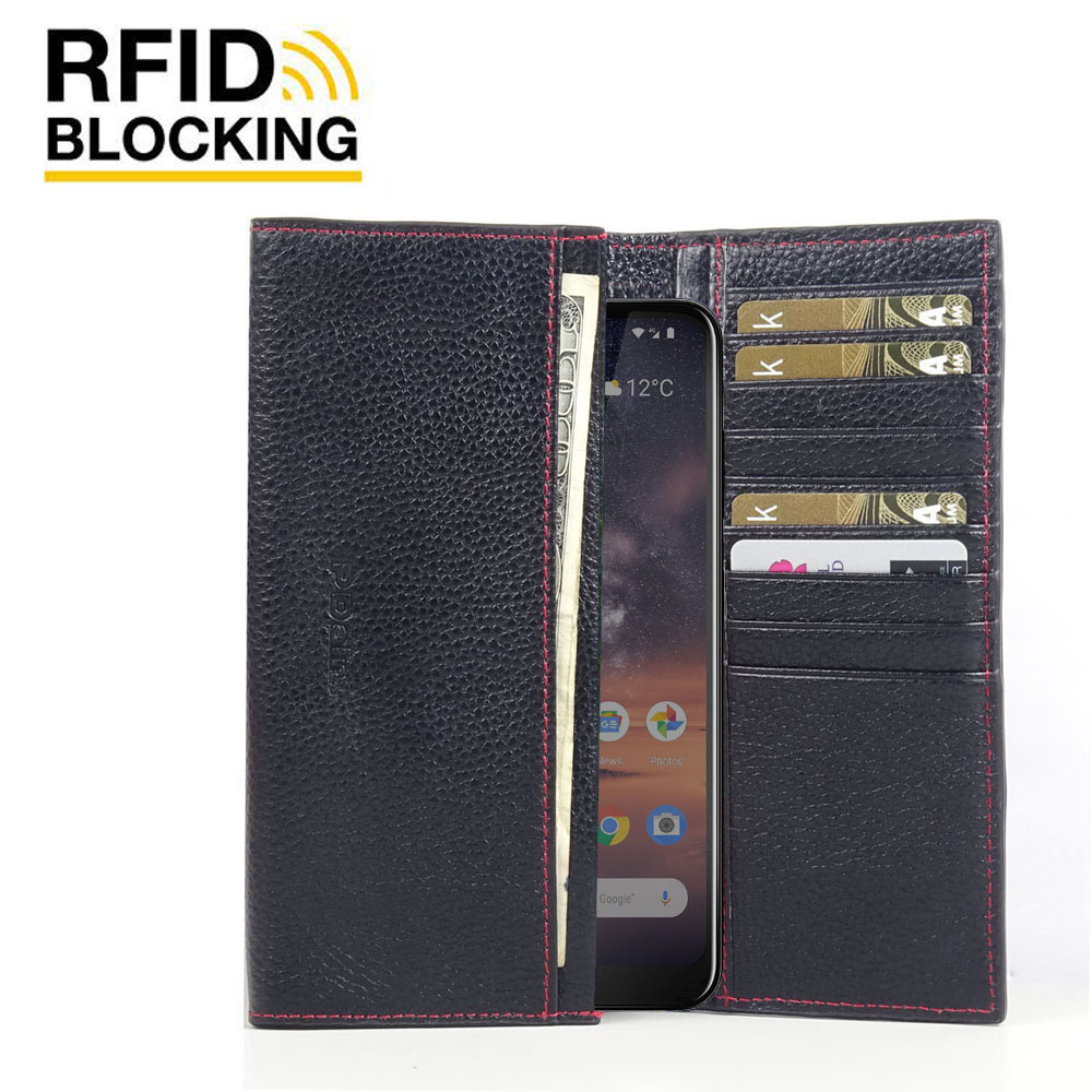 10% OFF + FREE SHIPPING, Buy the BEST PDair Handcrafted Premium Protective Carrying Nokia 3.2 Leather Continental Sleeve Wallet (Red Stitching). Exquisitely designed engineered for Nokia 3.2.