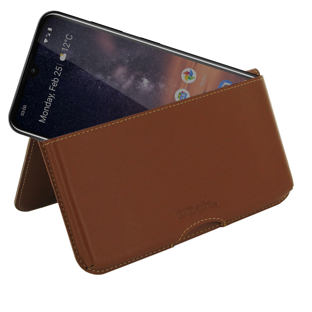 10% OFF + FREE SHIPPING, Buy the BEST PDair Handcrafted Premium Protective Carrying Nokia 3.2 Leather Wallet Pouch Case (Brown). Exquisitely designed engineered for Nokia 3.2.