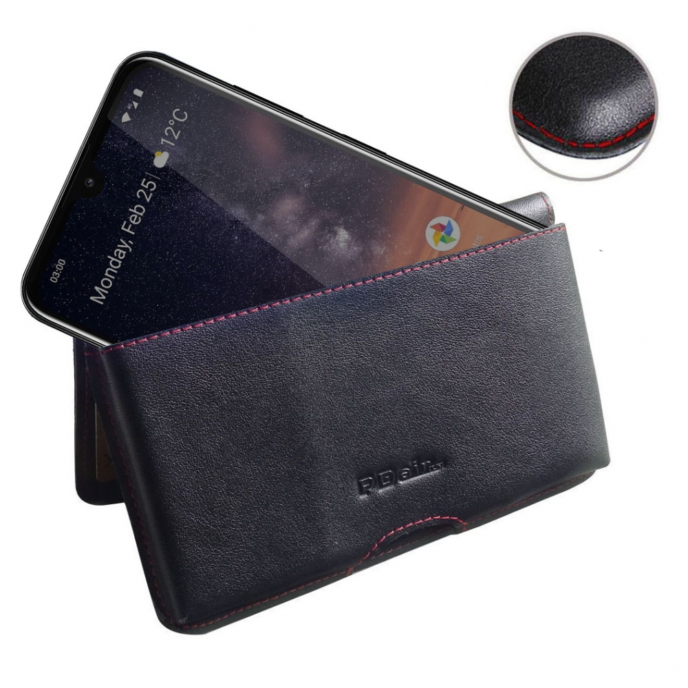 10% OFF + FREE SHIPPING, Buy the BEST PDair Handcrafted Premium Protective Carrying Nokia 3.2 Leather Wallet Pouch Case (Red Stitch). Exquisitely designed engineered for Nokia 3.2.