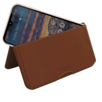 10% OFF + FREE SHIPPING, Buy the BEST PDair Handcrafted Premium Protective Carrying Nokia 4.2 Leather Wallet Pouch Case (Brown). Exquisitely designed engineered for Nokia 4.2.