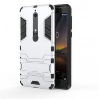 Nokia 6.1 Tough Armor Protective Case (Silver)