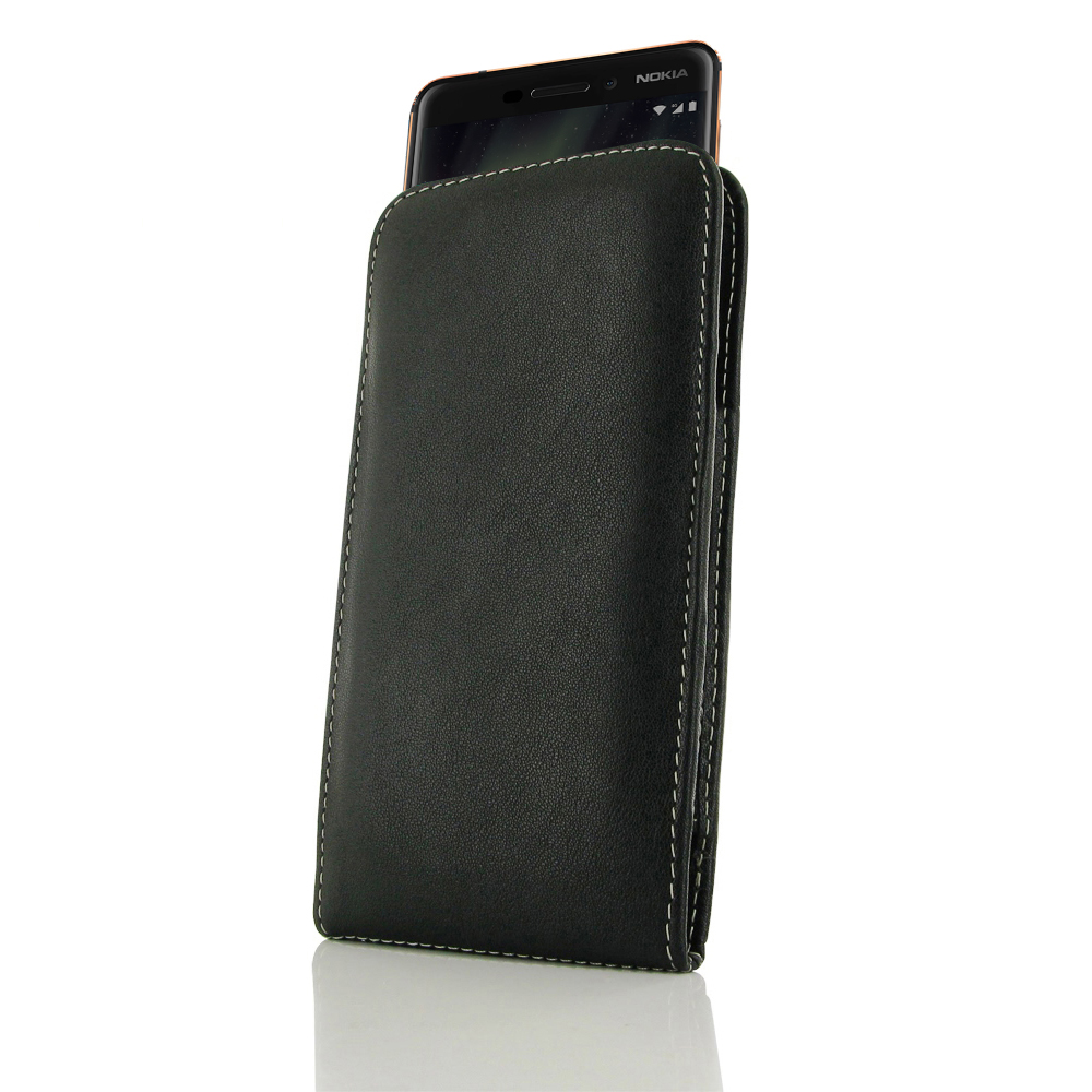 the latest c6e81 1ecf8 Leather Vertical Pouch Case for Nokia 6.1