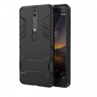 Nokia 6 (2018) Tough Armor Protective Case (Black)