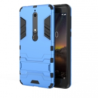 Nokia 6 (2018) Tough Armor Protective Case (Blue)