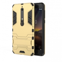 Nokia 6 (2018) Tough Armor Protective Case (Gold)