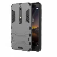 Nokia 6 (2018) Tough Armor Protective Case (Grey)