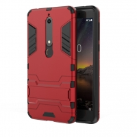Nokia 6 (2018) Tough Armor Protective Case (Red)