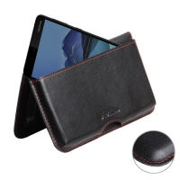 Leather Wallet Pouch for Nokia 7 (Red Stitch)