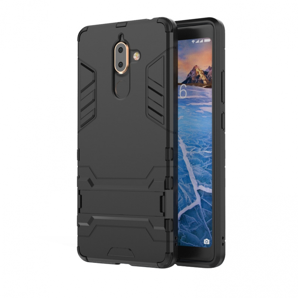 brand new d2e49 acb64 Nokia 7 Plus Tough Armor Protective Case (Black)