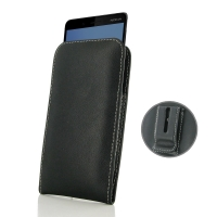 Leather Vertical Pouch Belt Clip Case for Nokia 7