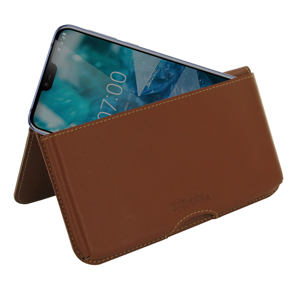 10% OFF + FREE SHIPPING, Buy the BEST PDair Handcrafted Premium Protective Carrying Nokia 7.1 Leather Wallet Pouch Case (Brown). Exquisitely designed engineered for Nokia 7.1.