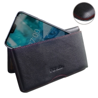 10% OFF + FREE SHIPPING, Buy the BEST PDair Handcrafted Premium Protective Carrying Nokia 7.1 Leather Wallet Pouch Case (Red Stitch). Exquisitely designed engineered for Nokia 7.1.