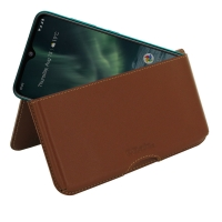 10% OFF + FREE SHIPPING, Buy the BEST PDair Handcrafted Premium Protective Carrying Nokia 7.2 Leather Wallet Pouch Case (Brown). Exquisitely designed engineered for Nokia 7.2.