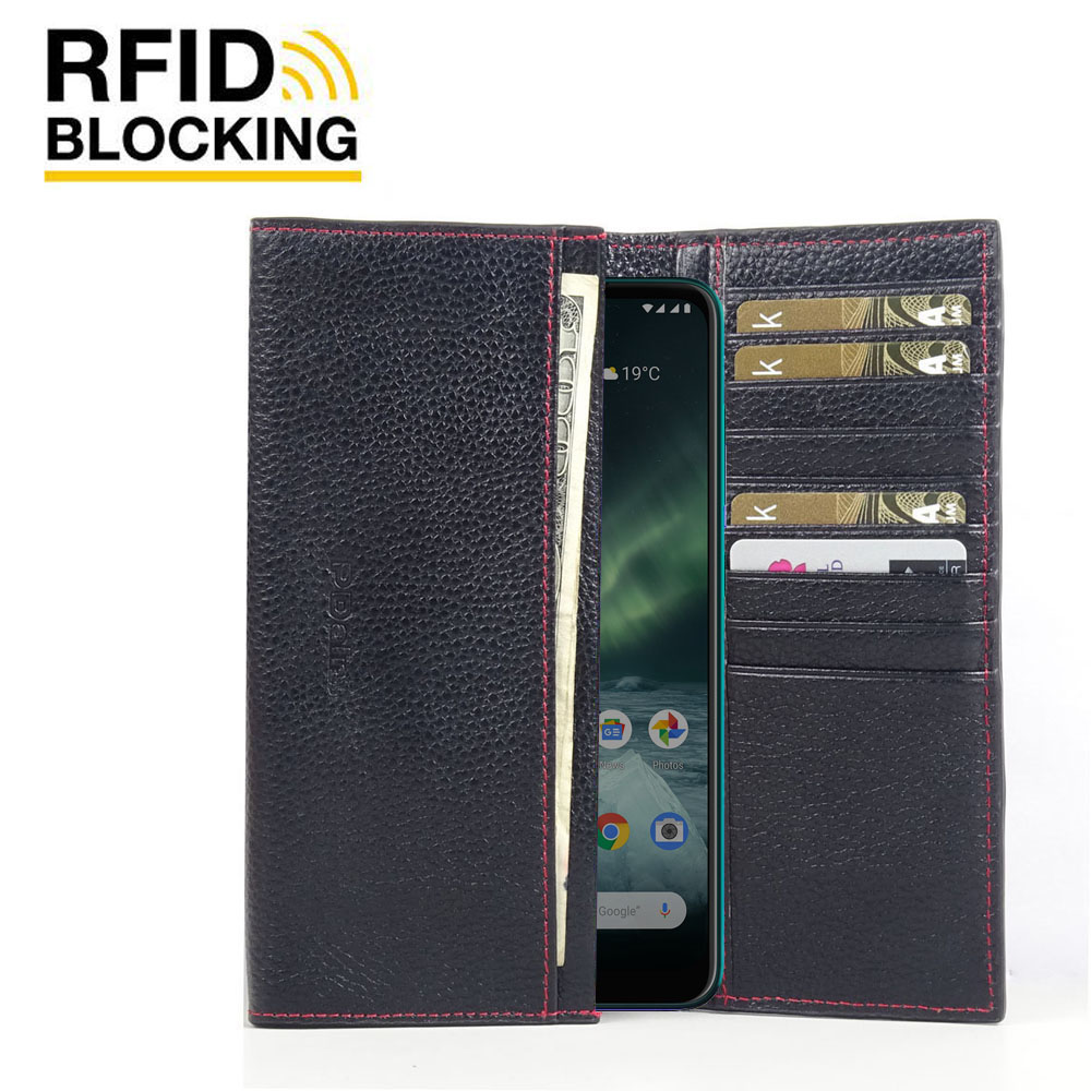 10% OFF + FREE SHIPPING, Buy the BEST PDair Handcrafted Premium Protective Carrying Nokia 7.2 Leather Continental Sleeve Wallet (Red Stitching). Exquisitely designed engineered for Nokia 7.2.