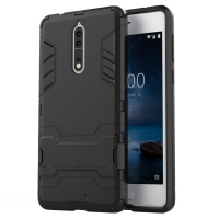 Nokia 8 Tough Armor Protective Case (Black)