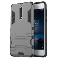 Nokia 8 Tough Armor Protective Case (Grey)