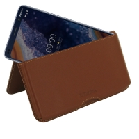 Leather Wallet Pouch for Nokia 9 PureView (Brown)
