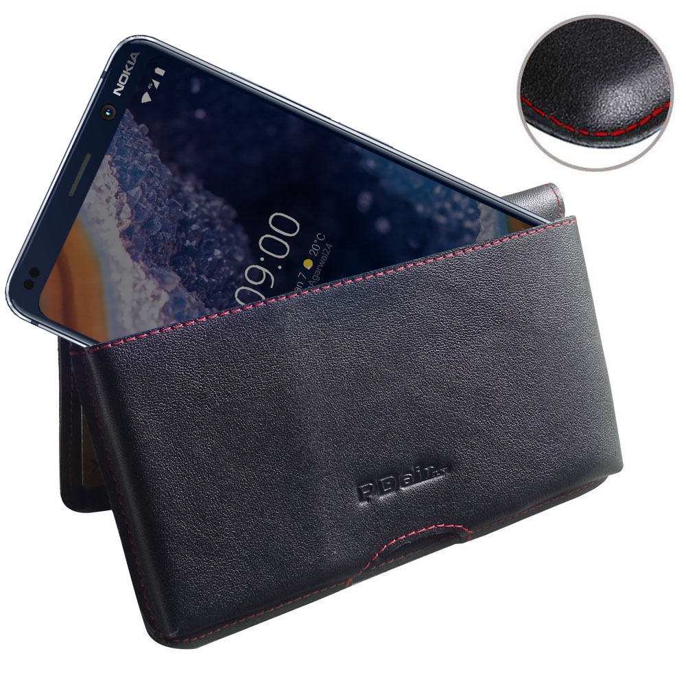 10% OFF + FREE SHIPPING, Buy the BEST PDair Handcrafted Premium Protective Carrying Nokia 9 PureView Leather Wallet Pouch Case (Red Stitch). Exquisitely designed engineered for Nokia 9 PureView.