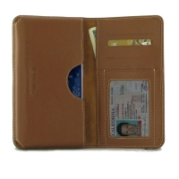 Leather Card Wallet for Nokia 9 PureView (Brown)