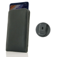Leather Vertical Pouch Belt Clip Case for Nokia 9 PureView