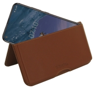 10% OFF + FREE SHIPPING, Buy the BEST PDair Handcrafted Premium Protective Carrying Nokia X71 Leather Wallet Pouch Case (Brown). Exquisitely designed engineered for Nokia X71.