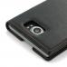 BlackBerry Priv Leather Smart Flip Case Cover (Orange Stitch) best cellphone case by PDair