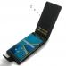 BlackBerry Priv Leather Flip Wallet Case (Green Stitch) genuine leather case by PDair