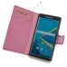 BlackBerry Priv Leather Flip Wallet Cover (Petal Pink) genuine leather case by PDair