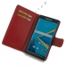 BlackBerry Priv Leather Flip Wallet Cover (Red) genuine leather case by PDair