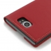 BlackBerry Priv Leather Smart Flip Case Cover (Red) best cellphone case by PDair