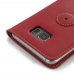 Samsung Galaxy S6 edge+ Plus Leather Flip Carry Cover (Red) custom degsined carrying case by PDair