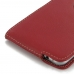 Samsung Galaxy S6 edge+ Plus Leather Flip Top Carry Case (Red) offers worldwide free shipping by PDair