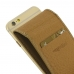 iPhone 6 6s Leather Flip Carry Case (Brown) custom degsined carrying case by PDair