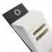 BlackBerry Priv Leather Flip Wallet Case (White) custom degsined carrying case by PDair