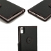 Sony Xperia Z5 Premium Leather Flip Carry Cover (Red Stitching) top quality leather case by PDair