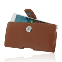 Leather Horizontal Pouch Case with Belt Clip for Nubia Prague S (Brown)