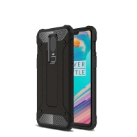 Hybrid Dual Layer Tough Armor Protective Case for OnePlus 6 (Black)