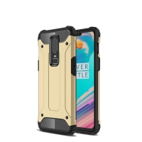 Hybrid Dual Layer Tough Armor Protective Case for OnePlus 6 (Gold)