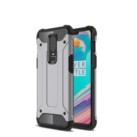 Hybrid Dual Layer Tough Armor Protective Case for OnePlus 6 (Grey)