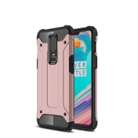Hybrid Dual Layer Tough Armor Protective Case for OnePlus 6 (Rose Gold)