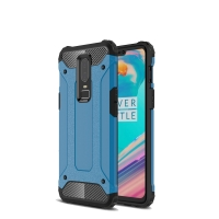 Hybrid Dual Layer Tough Armor Protective Case for OnePlus 6 (Skyblue)