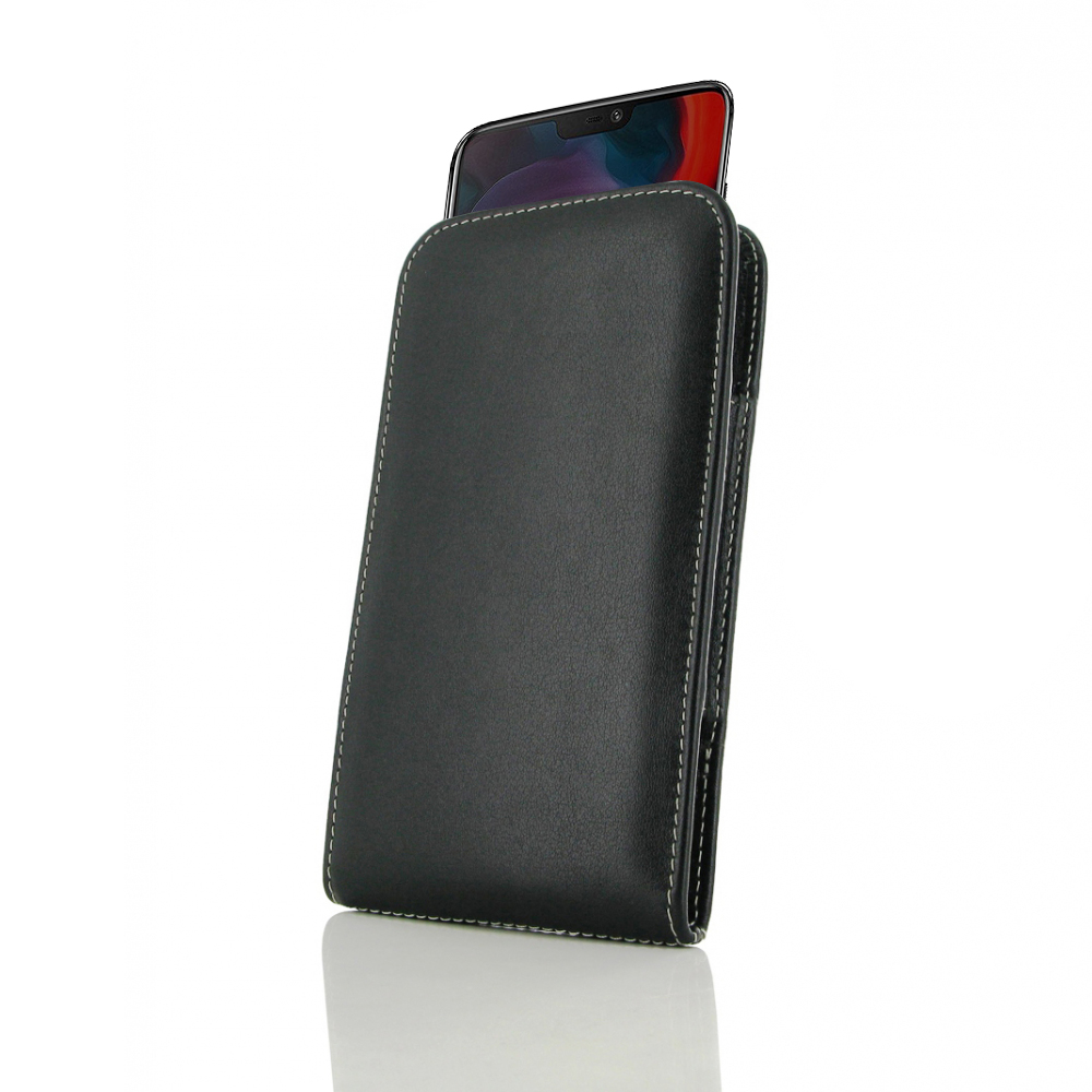 new style e71f3 555a9 Leather Vertical Pouch Case for OnePlus 6