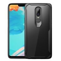Super Series Ultra Thin HD transparent PC Case for OnePlus 6(Black)