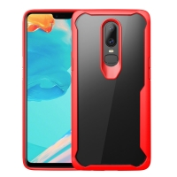 Super Series Ultra Thin HD transparent PC Case for OnePlus 6(Red)